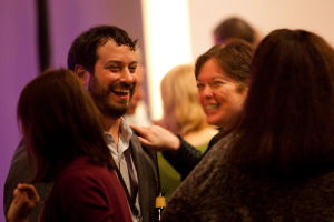 Photos of attendees networking at International Conference