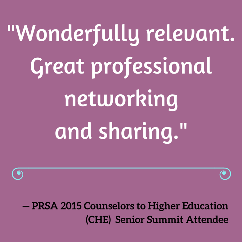 "Past attendee quote: ""Wonderfully relevant. Great professional networking and sharing."""