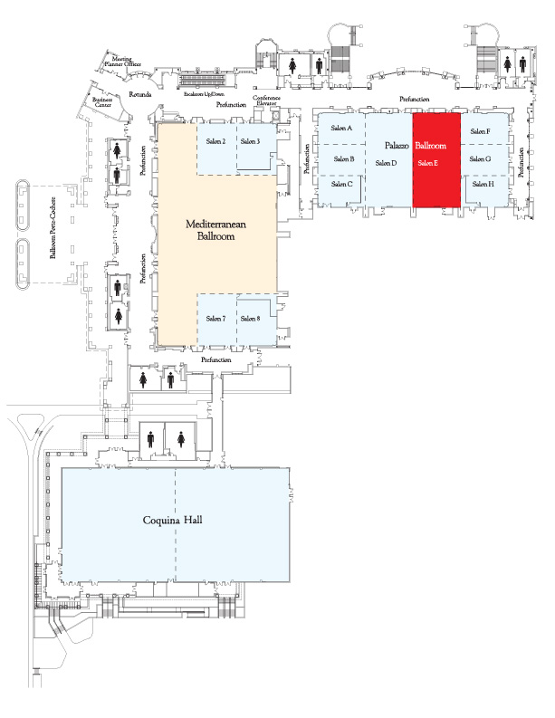 Map showing location of Palazzo Salon E.