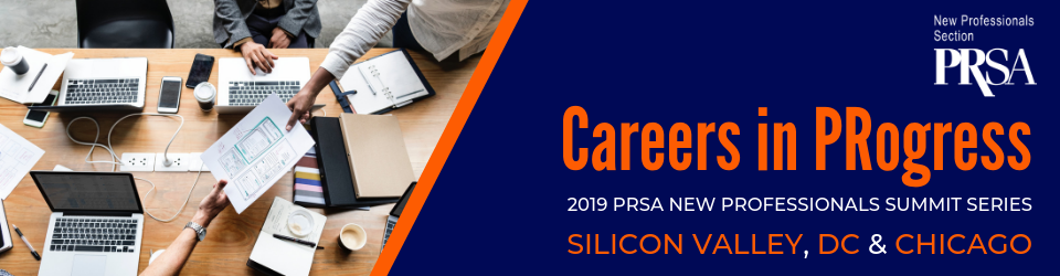 (Banner graphic of PRSA 2019 New Professionals Summit logo)
