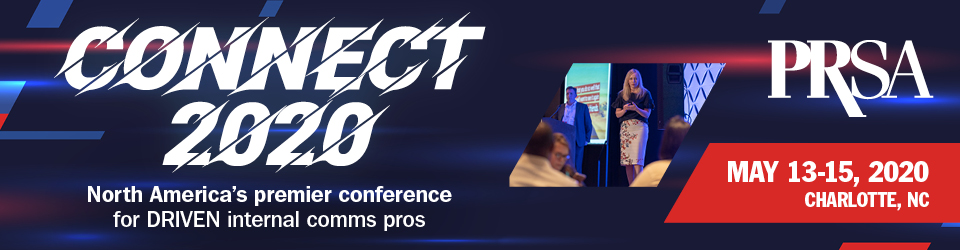 (Banner graphic of PRSA Employee Communications Connect 2020 Conference logo)