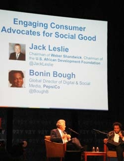 Weber Shandwick's Jack Leslie and PepsiCo's Bonin Bough discuss engaging consumer advocates for social good