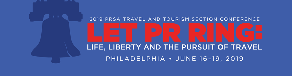 (Banner graphic of PRSA 2019 Travel and Tourism Conference logo)