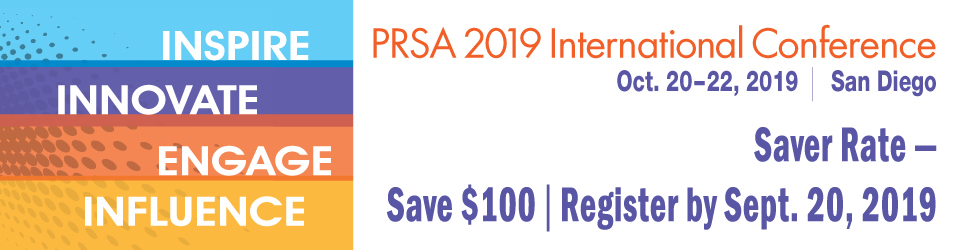 (Banner graphic of PRSA 2019 International Conference logo)